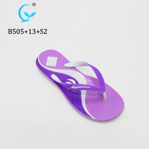 Newly slippers display rubber flip flop for ladies