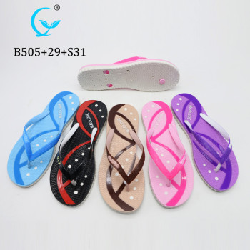 Perfect New Model Women Girls Custom Logo Sandals Nice Rubber Flip Flop for Young People