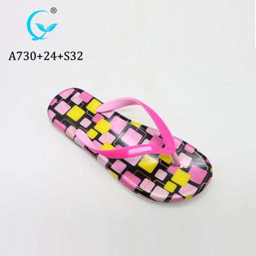 Summer Hot Sell girl Sandals Cheap slide slipper Wholesale upper Flip Flop straps