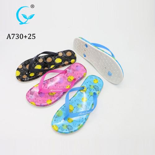 2019 fashion girls summer beach PE flip flops women sandal sole