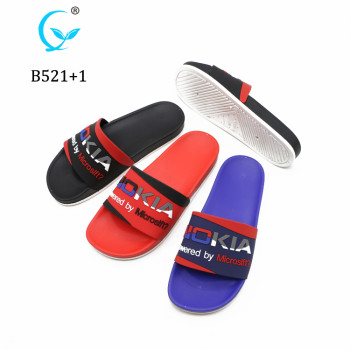 Custom Logo PVC sides sandals slipper for men
