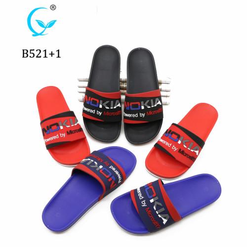 Custom Logo PVC sides sandals slipper for men