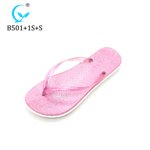 China OEM shiny slippers cheap popular glimmering shoes Brazil wholesale twinkling flip flop