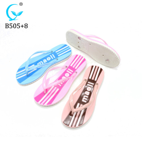 China factory Plastic Sandals New Mould simple design slipper jelly Flip Flops