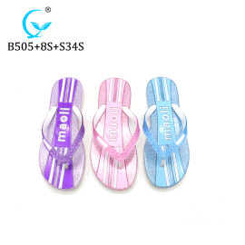Bangladesh fancy ladies slippers twinkling flip flops thongs glimmering sandals chappal