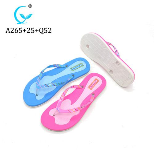 Pvc plain wholesale flip flops sandal for women ladies maoli slippers