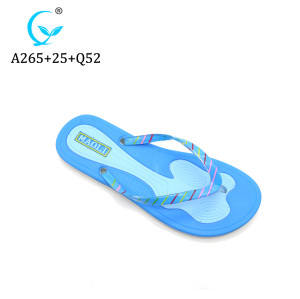 Pvc plain wholesale flip flops sandal for women ladies maoli slippers