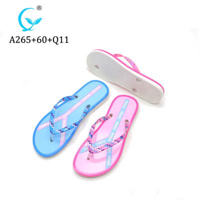 Chinese brand hot brand flip flops custom washable women's slippers