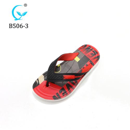 Latest children cheap summer beach slippers fashion printed flip flops for footwear