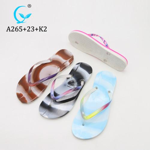 Fancy Shiny PVC Personalized Women Flip Flop Slippers,Flip Flops Women