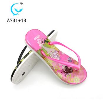 Promotion Summer Beach latest new design shiny ladies women pcu slipper 2019
