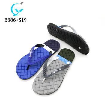 Hot selling flip flops man fashion slippers pcu boy shoes from MLX