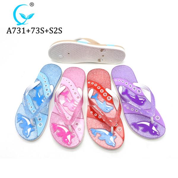 New Design Woman Flat Sandal Lady Glitter Slipper MLX Shoes factory