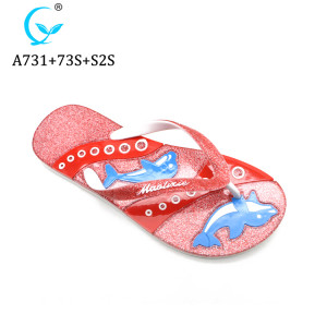 New Design Woman Flat Sandal Lady Glitter Slipper MLX Shoes factory