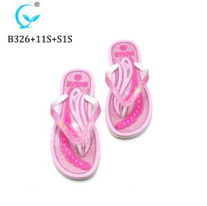Slipper Footwear,Custom Printed girl pvc glitter Slipper Sandals, Custom Logo colorful filpflops