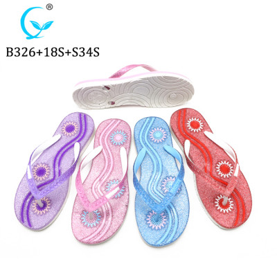 Soft fashionable beach flip flop comfortable natural rubber summer slipper china factory