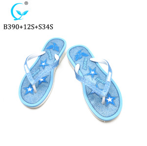 PCU injection foam pvc flip flops slippers for ladies summer