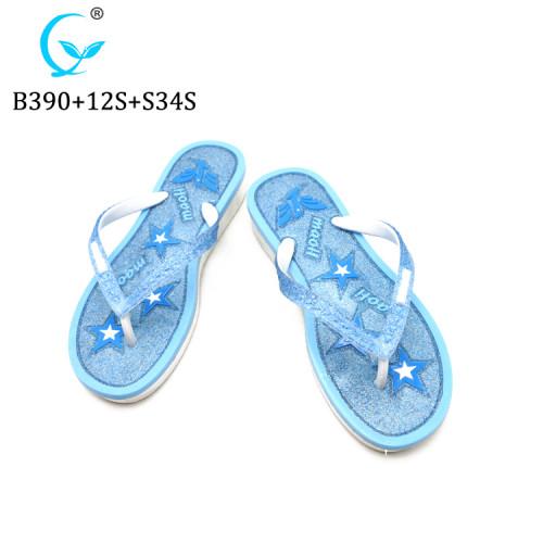 PCU injection foam pvc flip flops slippers for ladies summer