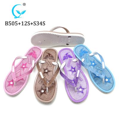 Plastic sole flip flops pvc sandal pcu slipper