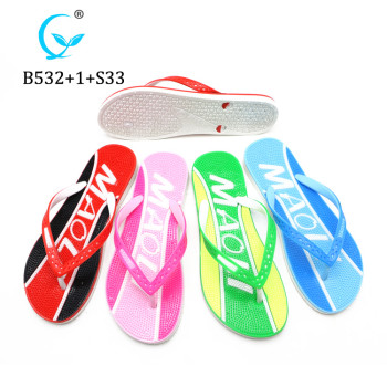 Hot active manufacture stock Comfiest massage Flip Flop Cheap Woman Slipper