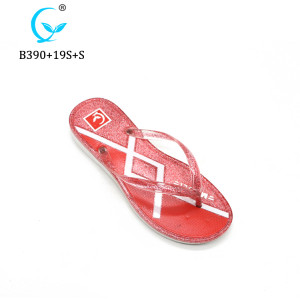 Factory wholesale custom printed summer high heel sandals beach flip flop eva slipper