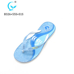 New model women sandals Shiny strap slippers outdoor natural rubber flip flops