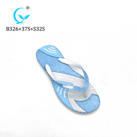 2019 Popular cheap wholesale glitter design beach flip flop slippers