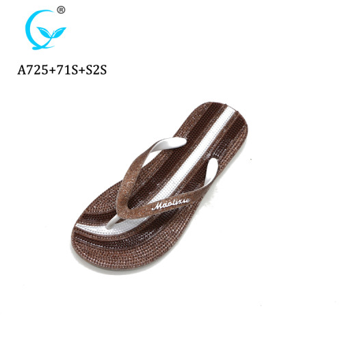 Summer fashion glitter Flip Flops Sandals Slippers with simple wholesale
