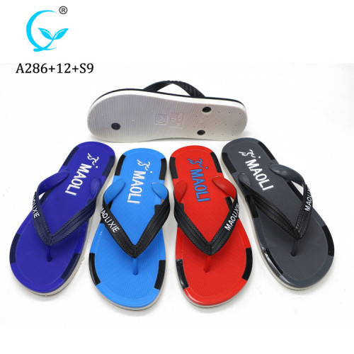 Cheap eva flip flop custom printed men slippers from MLX