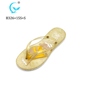 Wholesale flip flops wedge for women cheap flip flop customized beach slipper