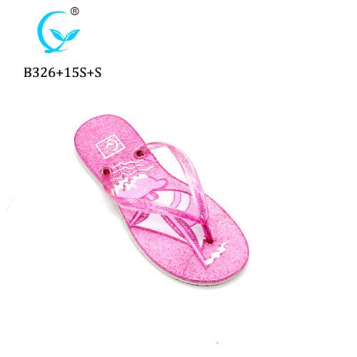 Wholesale flip flops wedge for women cheap flip flop customized beach slipper