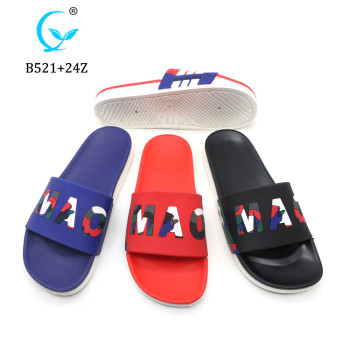 New Design Men PVC Slide Sandals Indoor Beach Slipper for men summer chappal