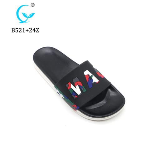 New Design Men PVC Slide Sandals Indoor Beach Slipper for men summer chappal