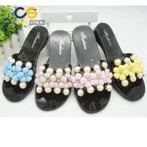 High performance women sandals beads slipper fashion lady sandals with wholesale price