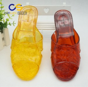 Women sandals jelly slipper PVC women sandals with wholesale price for old lady