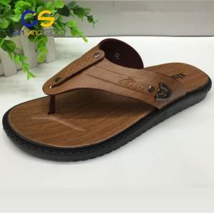 Cheap summer men slipper durable outdoor men flip flops PVC men sandal  beach wholesale