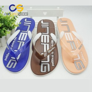Wholesale cheap flip flops PVC men slipper indoor outdoor sandals  with good quality
