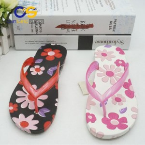 Chinsang Women PVC flip flop beach women slipper air blowing flip flop