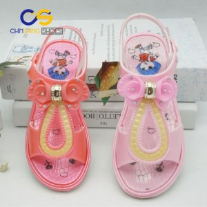 Chinsang high quality PVC air blowing sandals for girls