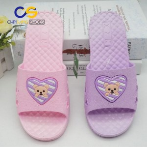 2017 new design bathroom indoor slippers for women
