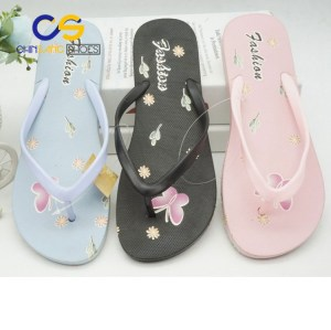 New design women flip flops Summer girls beach shoes from Wuchuan