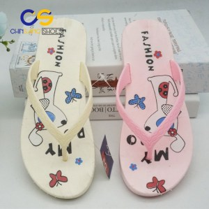 2017 top popular women flip flops Summer girls beach shoes