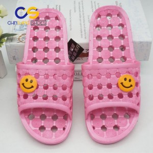 High quality PVC air blowing slippers for girls or women factory price made in Wuchuan