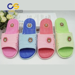 Chinsang PVC air blowing slippers for girls or women factory price made in Wuchuan
