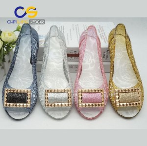 Chinsang PVC women sandals women sandals jelly slipper with wholesale price for old lady