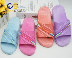 2017 cheap PVC women sandals air blowing slippers for girls or women factory price