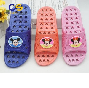 2017 new design PVC bathroom slipper shoes for girls or women with good quality