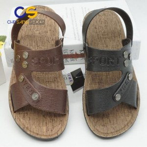 Cheap durable men PVC sandals outdoor beach men slipper fashion men sandal