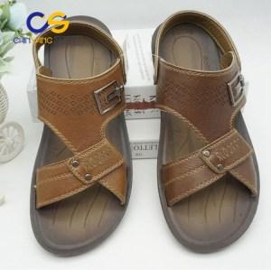 2017 Cheap durable men PVC sandals outdoor beach men slipper with high quality