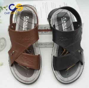 Durable men PVC sandals outdoor beach men slipper with factory price
